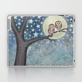northern saw whet owls under the stars Laptop & iPad Skin