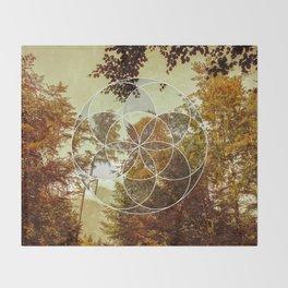 Autumn Meditation Throw Blanket