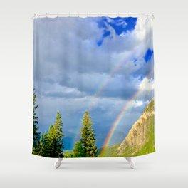 Canadian Rocky Rainbow Shower Curtain