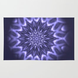 Purple ice Swirl mandala Rug
