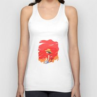 luffy Tank Tops featuring Monkey D Luffy by Senior-X