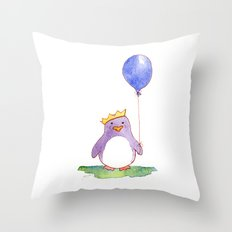 Celebration Penguin Throw Pillow