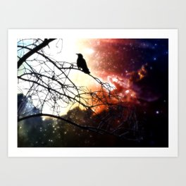 Cosmic Blackbird Art Print