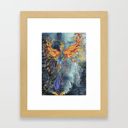 The Phoenix Rising From the Ashes Framed Art Print