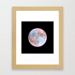Iridescent Dark Moon Framed Art Print
