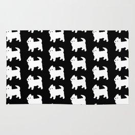 Westie Dog Pattern Rug