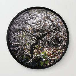 Ice-Covered Japanese Maple Wall Clock