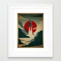 wall clock Framed Art Prints featuring The Voyage by Danny Haas