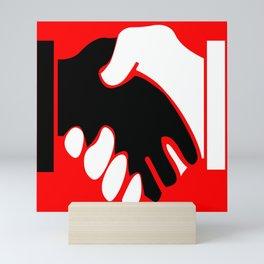 Shake hands for every-one. Mini Art Print