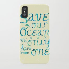 I heart ocean iPhone Case