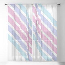 Diagonal stripes Sheer Curtain