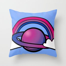 Space Queers: Bi Throw Pillow