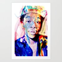 wiz khalifa Art Prints featuring wiz khalifa by Nic Moore