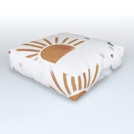 sunbursts Outdoor Floor Cushion