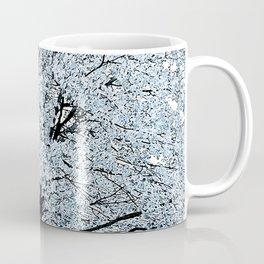 TREES WHITE ABSTRACT Coffee Mug