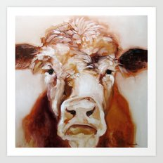 Mister Cow Art Print