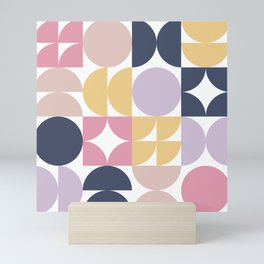 Mid-Century Geometric Pattern Mini Art Print
