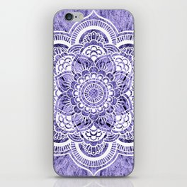 Mandala Lavender Colorburst iPhone Skin