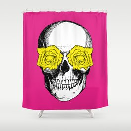 pink and yellow shower curtain. Skull and Roses  Pink Yellow Shower Curtain Curtains by Eclectic at HeART Society6