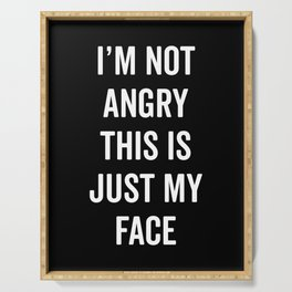 Angry Face Funny Quote Serving Tray