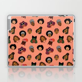 Black Hair Magic (Coral) Laptop & iPad Skin