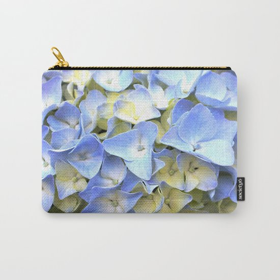 Soft Periwinkle Hydrangea Carry-All Pouch