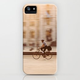 Riding in Budapest iPhone Case