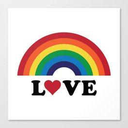 70's Love Rainbow Canvas Print