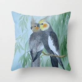 Cockatiels Throw Pillow