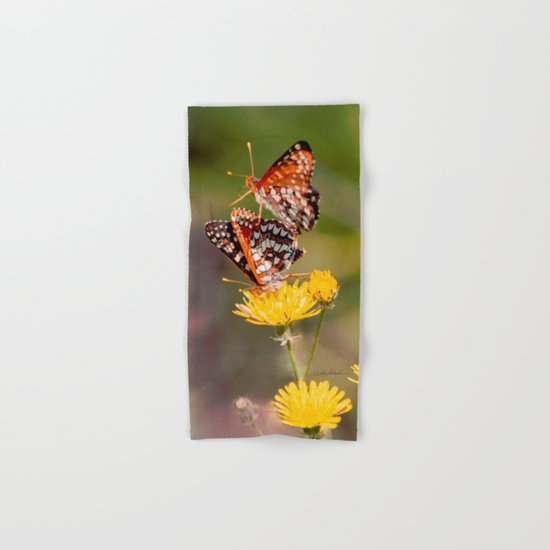 Butterfly Acrobats Hand & Bath Towel