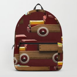 Vintage wooden toy truck #decor #society6 #buyart Backpack