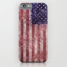 US Flag worn out iPhone 6s Slim Case