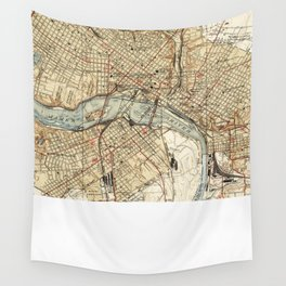 Vintage Map of Richmond Virginia (1934) Wall Tapestry
