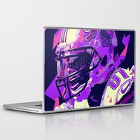 nfl Laptop & iPad Skins featuring CALVIN JOHNSON // NFL  GRIDIRON ILLUSTRATIONS by mergedvisible