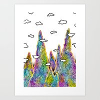spires Art Prints featuring Astral Spires by Taylor Beck