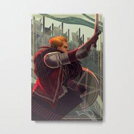 Knight of pentacles Metal Print