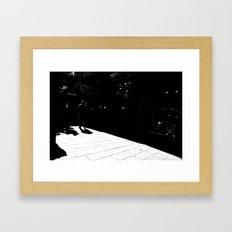 From white to black Framed Art Print