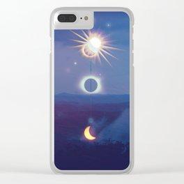 Wilderness Eclipse Clear iPhone Case