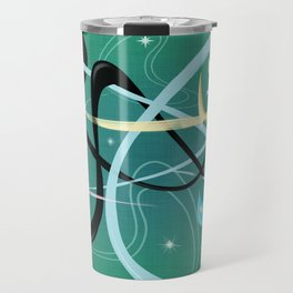 Atomic Rocket Cats In Space Travel Mug