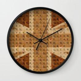 Scrabble Union Jack #2 Wall Clock