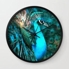 Peacock Plumage Wall Clock