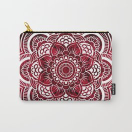 Mandala Red Colorburst Carry-All Pouch