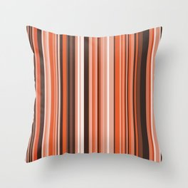Old Country Stripes - Autumn Throw Pillow