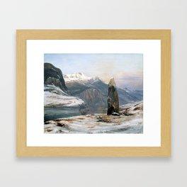 Johan Christian Dahl Winter at the Sognefjord Framed Art Print
