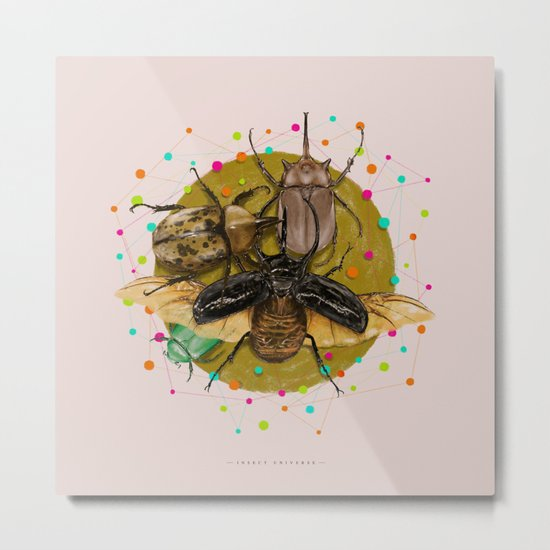 Insect Universe Metal Print