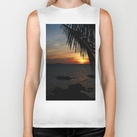 buddah Biker Tanks featuring Sunset from the Big Buddah Café by Ciaran Mcg