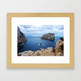 Sardinia Island Italy - Mesozoic Limestone Boulders Framed Art Print
