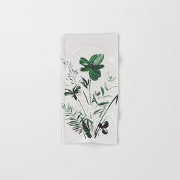 Green Flowers Hand & Bath Towel