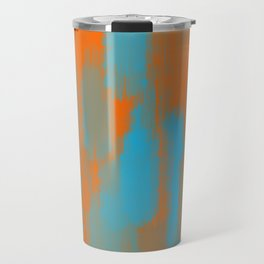 blue and orange painting texture abstract background Travel Mug