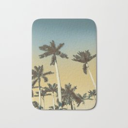 Palms and clear skies Bath Mat